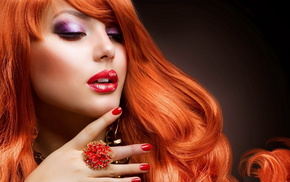 face, girls, decorations, red hair