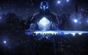 лед, воин, меч, фантастическое исскуство