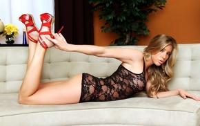 попа, грудь, блондинка, модель, Samantha Saint, девушки