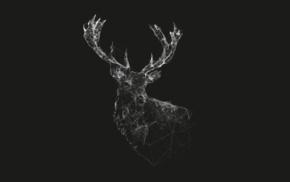 wireframe, minimalism, deer, lines
