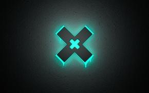 minimalism, neon, glowing, The XX
