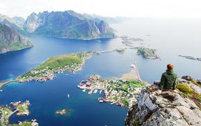 Norway, beautiful, sea, view, city