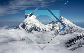 snow, mountain, polyscape