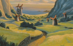 landscape, anime, Studio Ghibli, Nausicaa