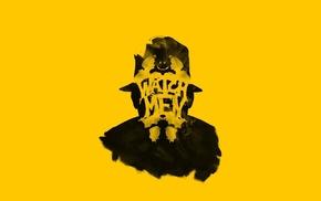 Rorschach, yellow background, Watchmen
