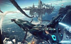 science fiction, aircraft, futuristic, cyberpunk