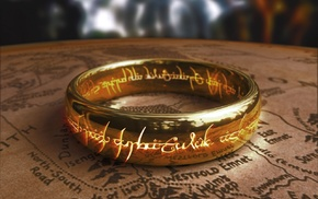map, artwork, The Lord of the Rings, The Hobbit, rings