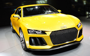 Audi, photo, yellow, cars, headlights