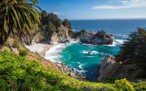 природа, песок, камень, океан, небо, пляж