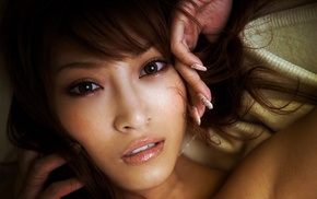 Asian, girl, face, model