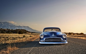blue cars, Chevrolet, Chevy, old car