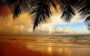 ocean, beach, clouds, sky, nature