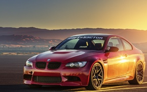 nature, sportcar, auto, BMW, red