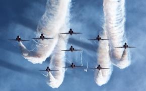 jets, aircraft, beautiful, sky