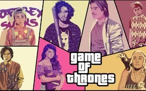 artwork, colorful, Game of Thrones, fan art, digital art, pop art