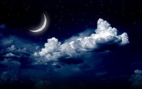 sky, clouds, stunner, stars
