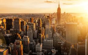 New York City, Manhattan, sunset