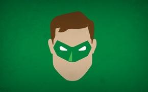 DC Comics, Blo0p, minimalism, comics, Green Lantern, superhero