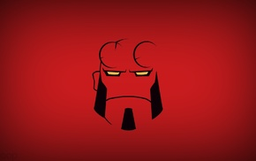 superhero, Hellboy, heroes, comics, Dark Horse, simple background