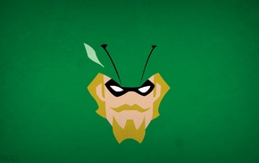DC Comics, Blo0p, superhero, simple background, Green Arrow, minimalism