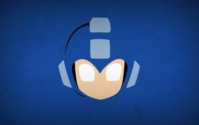 video games, simple background, minimalism, Mega Man