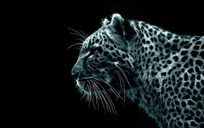 leopard, Fractalius, animals