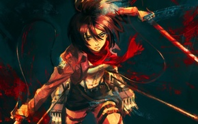 Mikasa Ackerman, девушки из аниме, аниме