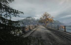 игры, пейзаж, мост