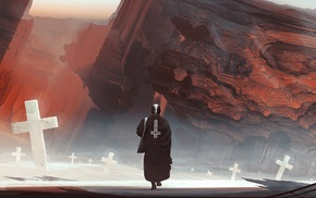 priest, landscape, graveyards, Kuldar Leement