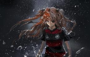 soccer, Neon Genesis Evangelion, Germany, anime, Asuka Langley Soryu