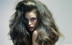 длинные волосы, портрет, брюнетка, модель, девушка