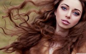 голубые глаза, кудрявые волос, модель, длинные волосы