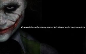 The Dark Knight, Joker, quote, Batman, typographic portraits