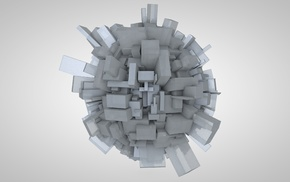 abstract, Cinema 4D, CGI, 3D, sphere