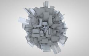 абстрактные, Cinema 4D, CGI, 3D, сфера