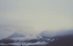 mist, mountain