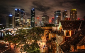 lights, HDR, cityscape, building