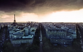 building, Paris, street, France, cityscape, Eiffel Tower