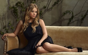model, open, toed shoes, dress, girl, Ashley Benson