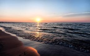 море, пляж.песок, природа, закат