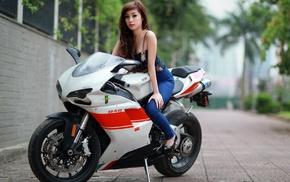 model, Ducati 848, girl