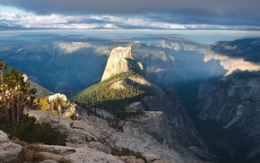 Yosemite National Park, landscape, USA, valley, mountain, Half Dome