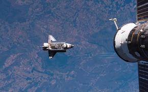 шаттл, Союз ТМА, красиво, НАСА, Земля, Космос