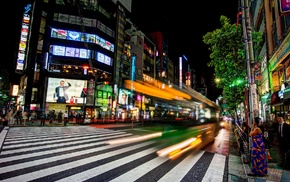 cityscape, night, Japan, street