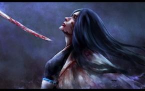 NanFe, sword, Unohana Retsu, Bleach, shinigami, blood