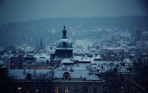 снег, городской пейзаж, пейзаж, архитектура, здание