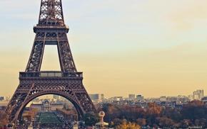 Франция, Париж, городской пейзаж, Эйфелева башня