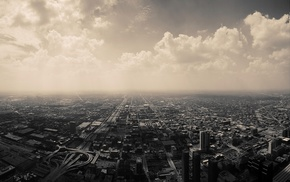 cityscape, clouds, Chicago, city