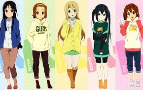 Nakano Azusa, Hirasawa Yui, Akiyama Mio, Tainaka Ritsu, Kotobuki Tsumugi, K