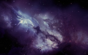 space art, nebula, JoeyJazz, space, purple, artwork